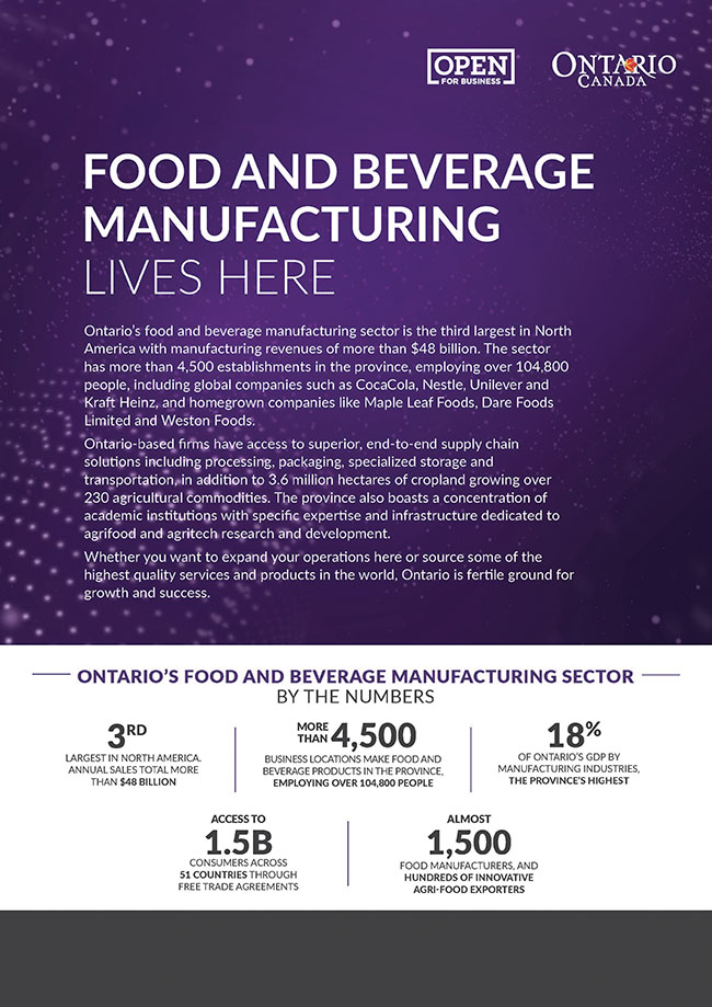 Food and beverage manufacturing lives here