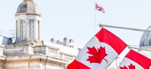 The Canada House in London's Trafalgar Square