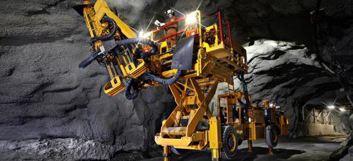 MacLean engineering bolter at work in an underground mine